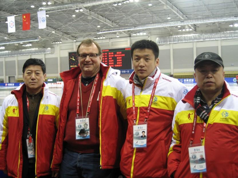 De fire starterne under de kinesiske vinterlekene i Changchun 2012.